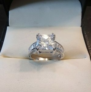 3.50ctw AAA White Diamonds 925 Sterling Engagement